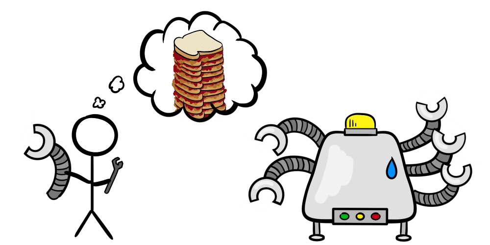 Adding additional arms to robot while envisioning a multi-layer PB&J